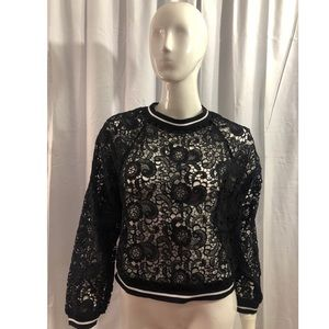 Lucca Couture Black Lace Sweater